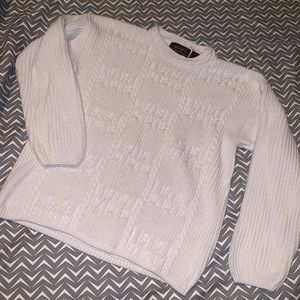 Eddie Bauer Cable Knit White Sweater